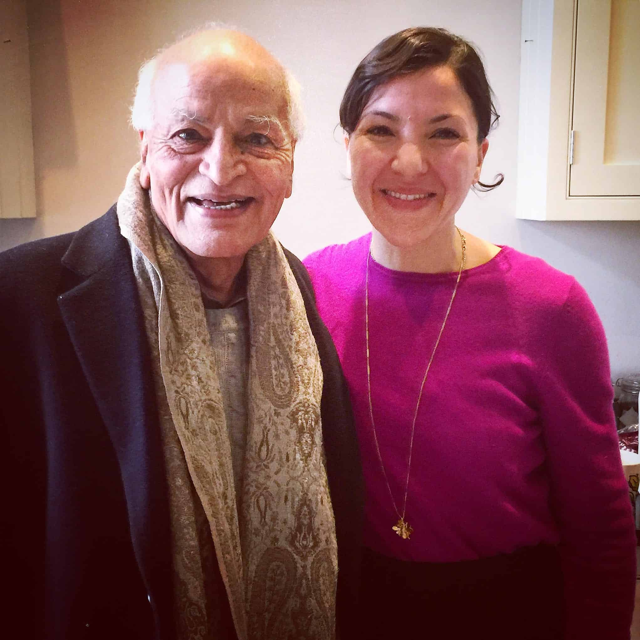 Aya Husni Bey with Satish Kumar
